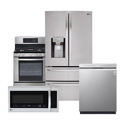 Lg Stainless Steel Refrigerator 4 Piece Package Home Depot Pkg 3 597 Homeappliancess Outdoor Kitchen Appliances Kitchen Appliances Kitchen Appliance Packages