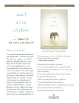 Examine figurative language, dialogue, and point of view in Small as an Elephant by Jennifer Richard Jacobson. This packet includes discussion questions, writing prompts, and #CCSS connections for the middle-grade book. http://www.teachervision.fen.com/novels/printable/73942.html #mentortext #middlegrade