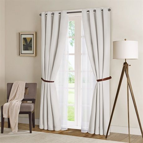 """Get a crisp and clean hotel look with this solid herringbone window panel. The panel is energy efficient with black out features protecting your home from heat and cold. It also features a unique functionality by being flame retardant, providing safety. Grommet Top detail makes it easier to hang and style panels for a neater appearance, along with the functionality to open and close panels throughout the day. Fits up to 1.25"""" diameter rod."""