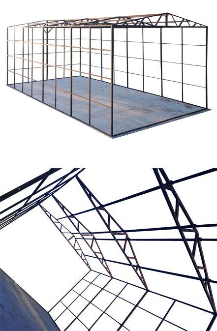 Konstrukcja Garazu 5x10 Pod Hale Wiaty Garaz Storage Decor Home Decor