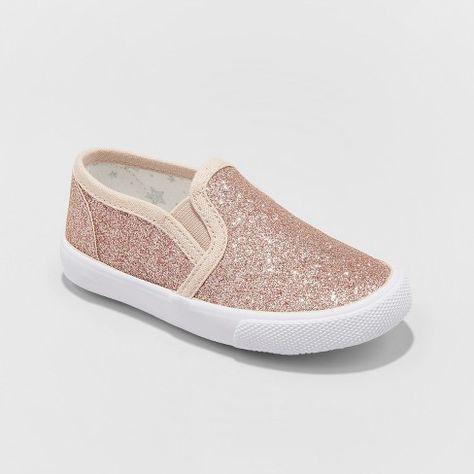 43ec481a8726 Toddler Girls  Margarita Glitter Sneakers - Cat   Jack™ Rose Gold   Target