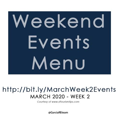 Looking for something fun to do this weekend?  Check out this list of fun things to do in San Francisco this weekend! These are major happenings and hidden gems you may not know about. From concerts and performances to classes, food festivals, and everything in between, check this out!  Enjoy your weekend!  #Events #LocalEvents #SanFrancisco #SanFranciscoBayArea #SanFranciscoEvents #ThingsToDoInSanFrancisco #ThingsToDo #Weekend #TheGarciaRealEstateTeam #SanFranciscoRealEstate #GuaranteedSale