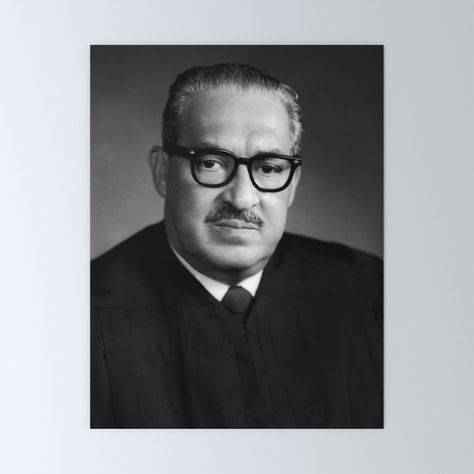 Thurgood Marshall Portrait - 1970 Mini Art Print by War Is Hell Store - Without Stand - x