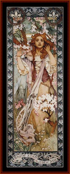Art Nouveau Alphonse Mucha/'s La Trappistine Poster Counted Cross Stitch Pattern