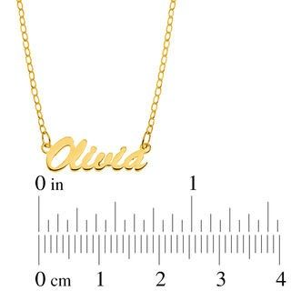 Script Name Necklace In 10k Gold 1 Line 17 Piercing Yellow Gold Diamond Pendant Heart Shaped Diamond Pendant Name Necklace