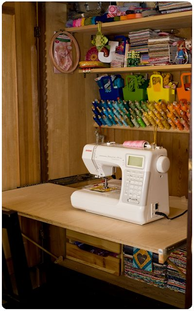 I'm taking part in the Studio Spotlight series at The Sewing Loft and Ellison Lane . They're spotlighting creative sewing spaces all week.