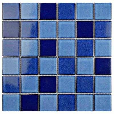 Oceania Quad Marine 11 7 8 In X 11 7 8 In X 6 Mm Porcelain Mosaic Tile Porcelain Mosaic Mosaic Flooring Porcelain Mosaic Tile