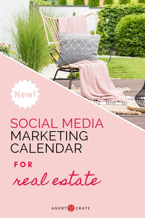 Social Media Content Calendar for Real Estate - Free Download - Agent Crate