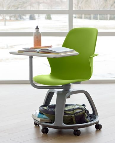 steelcase case node tablet arm chair