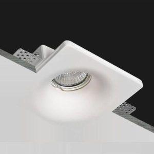 Porta Faretto Da Incasso In Gesso A Scomparsa Lampada Per Faretti Gu10 Art Csf045 Gesso In 2020 Lighting Design Light Fixtures Lamp