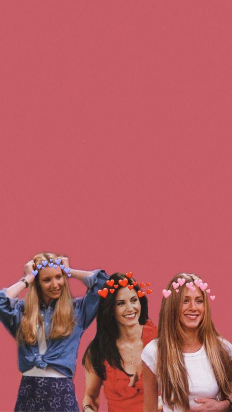 Friends girls wallpaper - Phoebe Rachel and Mônica