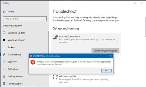 Msdt Exe Error Windows Cannot Access The Specified Device Path