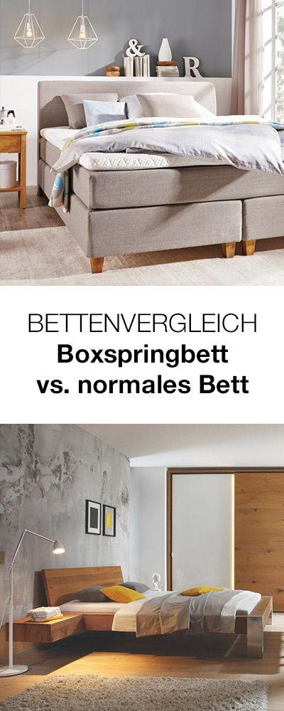 Boxspringbett Oder Normales Bett Welches Bett Ist Besser Hier