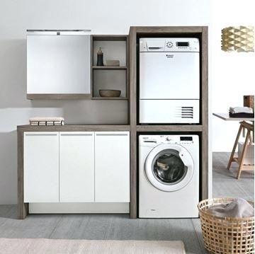 meuble colonne lave linge glamour pour