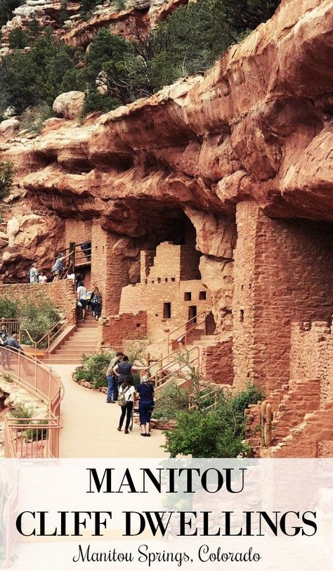 Visit the Manitou Cliff Dwellings in Manitou Springs, Colorado Spend the day at the Manitou Cliff Dwellings in Manitou Springs, CO. With easy access from Colorado Springs and Pueblo, it's a must-see for the whole family Denver Colorado, Road Trip To Colorado, Visit Colorado, Colorado Hiking, Colorado Springs Things To Do, Colorado Mountains, Colorado Vacations, Silverton Colorado, Salida Colorado