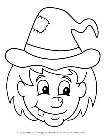 Halloween Coloring Pages Easy Peasy And Fun Witch Coloring Pages Halloween Coloring Pages Fun Halloween Kids Crafts