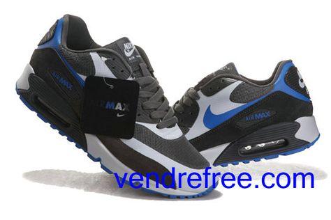 save off 87f32 32efa Vendre Pas Cher Homme Chaussures Nike Air Max 90 (couleur gris,bleu) en  ligne en France.
