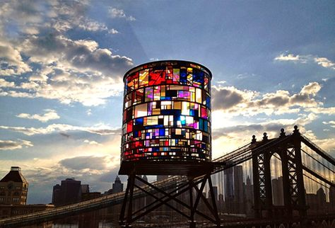 stained glass water tower. gorgeous