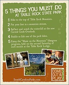 The Top 5 Things To Do At Table Rock State Park Greenville SC