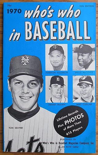 Who S Who In Baseball 1970 Sports Magazine Baseball Popular Sports