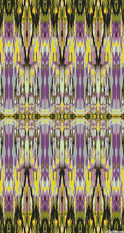 'Ikat' from the 'Fabrique-istan' collection by Paula Nadelstern for Benartex.-Olive