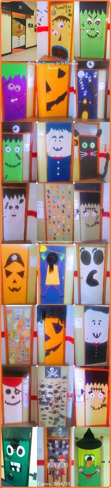 Decoramos las puertas de clase, por Halloween   El SexTo NiveL