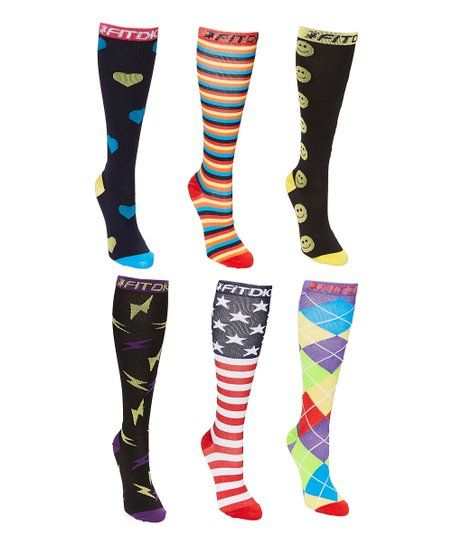 Big Black American Flag Knee High Crew Socks Knee High Stockings