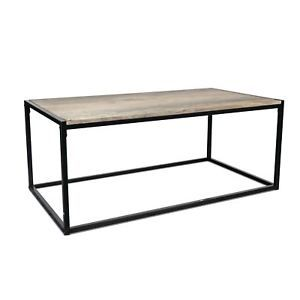 Details About Industrial Style Coffee Table Light Wood Black Steel Frame 110 X 60 X 46cm Coffee Table Industrial Style Coffee Table Coffee Table Wood