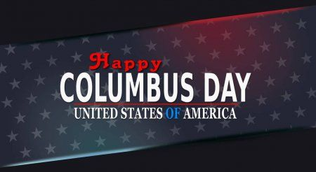 Columbus Day Web Banner Template Poster Usa Flag Stock Vector Aff Banner Template Web Columbus Ad In 2020 Web Banner Banner Template Happy Columbus Day
