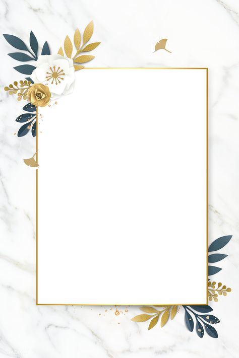 Download premium image of Rectangle paper craft flower frame template illustration by Adj about announcement, beautiful, blank, blank space and bloom