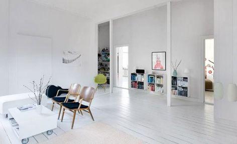 Witte Houten Vloer : Witte houten vloer house living room home en house design