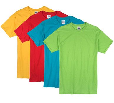 Bright Colors Adult T Shirt | Machine Embroidery | Shirts