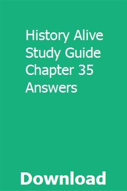 History Alive Study Guide Chapter 35 Answers Owners Manuals Study Guide Polaris Ranger 900
