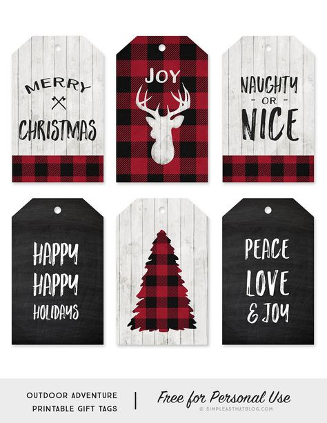 Buffalo Check Printable Gift Tags Click the link above to download the Buffalo Check Printable Gift Tags. Please note that all downloads from Simple as That are free for personal use only. If you're new here be sure to give us a follow on Instagram, Facebook and Pinterest for the latest projects and free downloads …