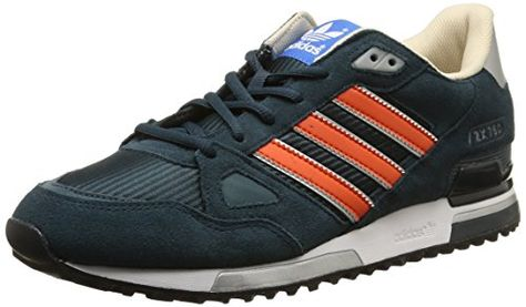 adidas ZX 750, Herren Sneakers, Blau (Petrol Ink S15-St/Collegiate Orange/Midnight F15), 45 1/3 EU - http://on-line-kaufen.de/adidas/45-1-3-eu-10-5-uk-adidas-zx-750-herren-sneakers