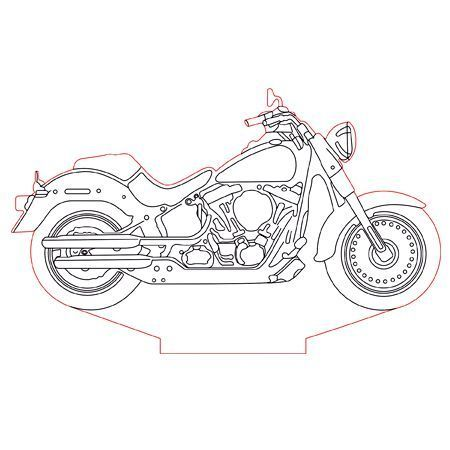 Harley Davidson Bike 3d Illusion Lamp Plan Vector File For Cnc 3bee Studio Harleydavidsonbikersallovertheworld Shablony Trafaretov Nochnik Tisnenie
