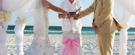 sand ceremony pink and white beach wedding by Princess Wedding Co