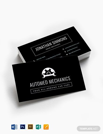 Instantly Download Chalkboard Auto Repair Business Card Template Sample Exam Business Card Template Word Free Business Card Templates Business Card Template