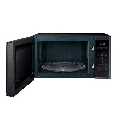 Samsung 1 4 Cubic Foot Countertop Microwave Oven Black Certified