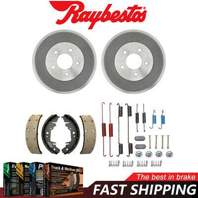 Front and Rear Ceramic Brake Pads and Shoes Fits Chrysler PT Cruiser Rear Drum
