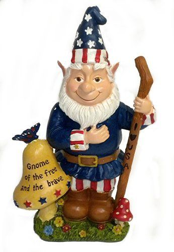 Amazing Uncle Sam 4th Of July Memorial Day Garden GNOME Statue (887600964013)  Patriotic Gnome Made Of Resin For Indoor Or Outdoor Use Great For Outdoor  Theu2026