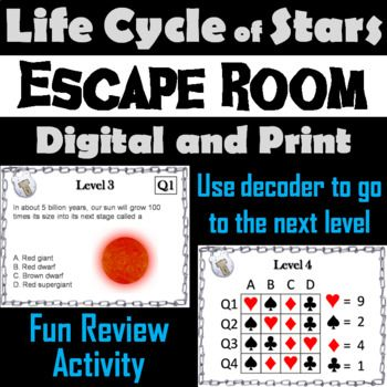 Life Cycle Of Stars Activity Space Science Escape Room Astronomy Escape Room Life Cycles Life Cycles Activities