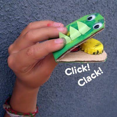 Cardboard croc.