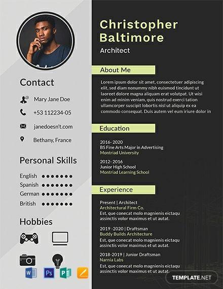 Basic Lawyer Resume Cv Template Word Psd Indesign Apple Pages Illustrator Publisher Resume Design Creative Architect Resume Resume Design