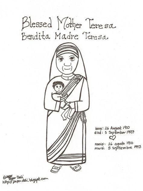 Paper Dali: Blessed Mother Teresa of Calcutta / Bendita Madre Teresa ...