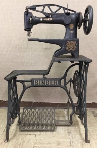 Antique 1909 Dated Singer 29 4 Industrial Sewing Machine Cobbler Leather Stand Sewing Machine Industrial Sewing Machine Industrial Sewing