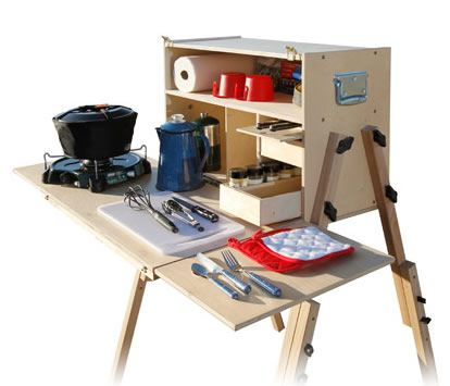 Outdoorsman chuck box, Kit $350, with optional accessories