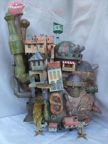 3D DIY Paper Model Kit Howl's Moving Castle Land Version Handcraft Model