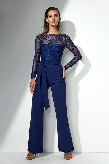 Helena Lace Jumpsuit in Navy - All Your Fashion Musthaves