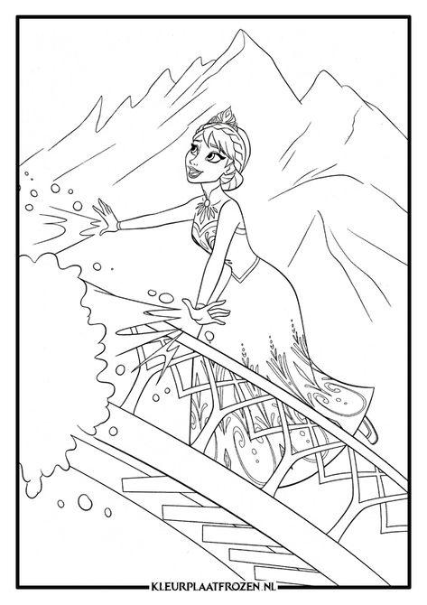 Kinder Kleurplaten Van Disney.Kleurplaat Van Elsa Uit Frozen Amazing Coloring Disney